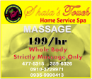 home service massage  cainta
