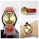 Casio Vintage Leather Dress Watch - MTP 1094Q 9B - Brown and Gold