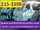 High Quality Van for Rent. Van for Hire in Manila. Rent a Van.