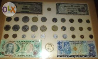 Old Philippine Coins And Bills Collection